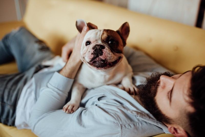 Relaxing with your pet is great for pet health!
