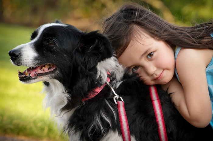Little girl's best friend